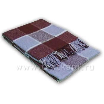 Плед 1,5сп, 20% шерсть-80% ПАН,140х200см,арт.45