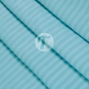 Страйп сатин 240см полоса 1*1,125гр, цв.голубой