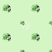 Тик пуходержащий 100% хлопок, дизайн панда