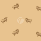 Тик пуходержащий 100% хлопок, дизайн овцы - 881